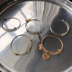 Jewelry - Alex and Ani Gold and Bronze bangles